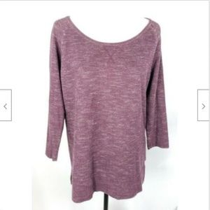 Banana Republic Sweatshirt M Purple Plum Eggplant